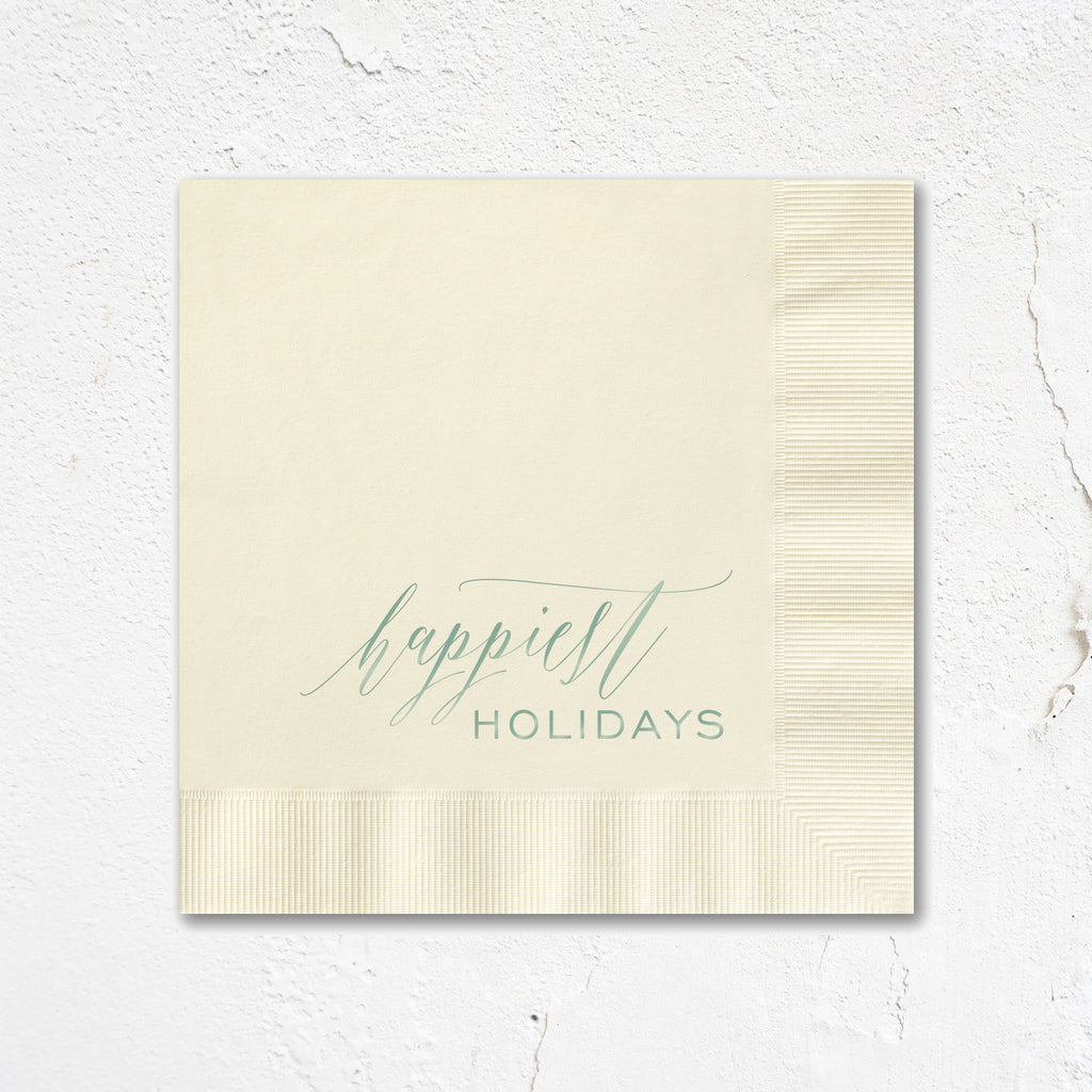 Happiest Holidays Napkins
