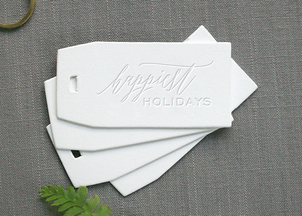 Happiest Holidays Gift Tags
