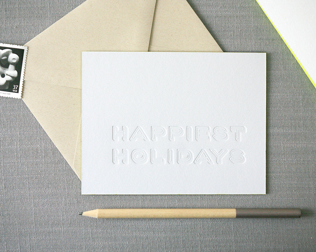 Happiest Holidays Letterpress Holiday Cards
