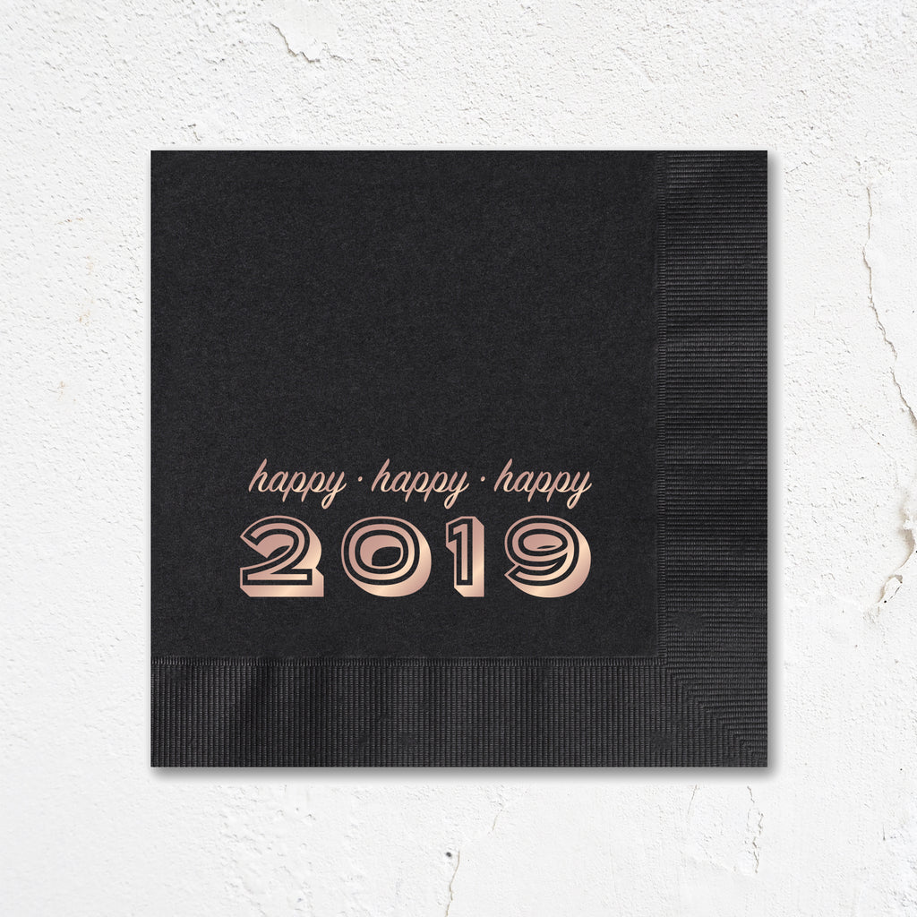 Modern Happy 2019 Napkins