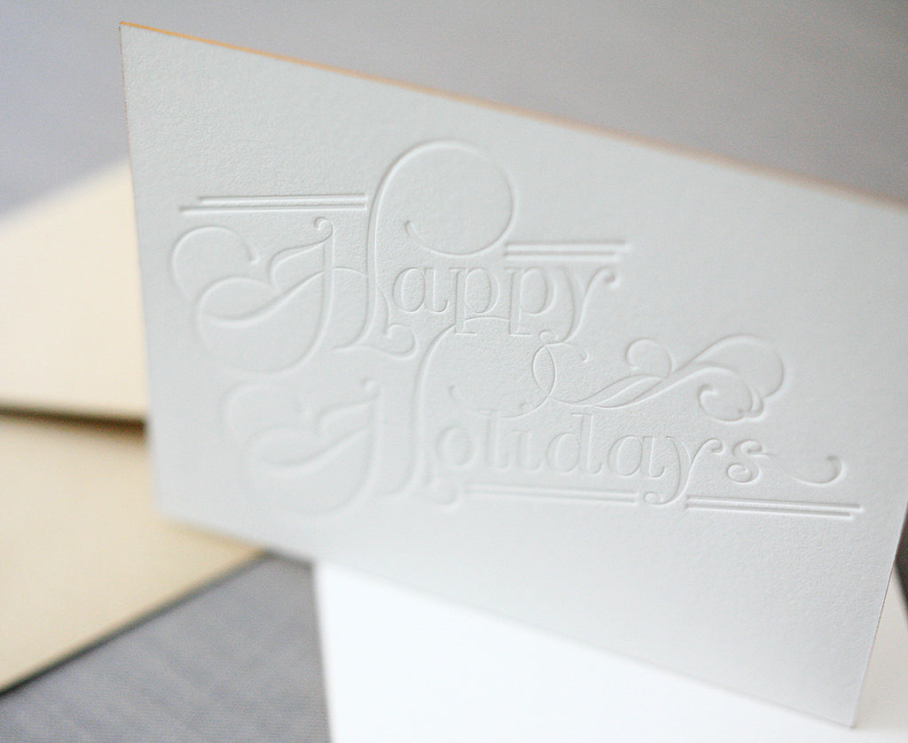 Happy Holidays Letterpress Holiday Cards