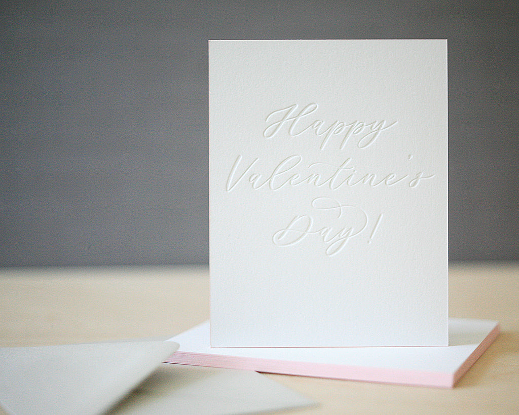 Calligraphy Letterpress Valentine's Cards