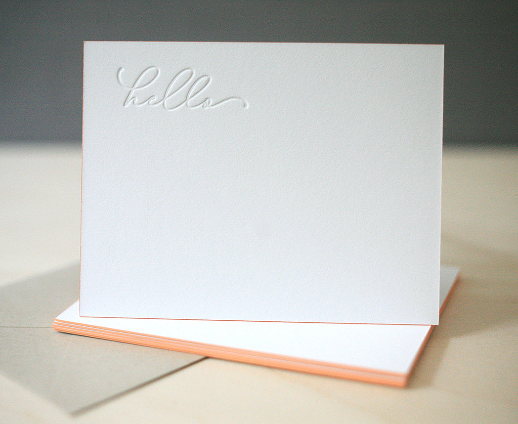 Hello Letterpress Edge Painted Notes