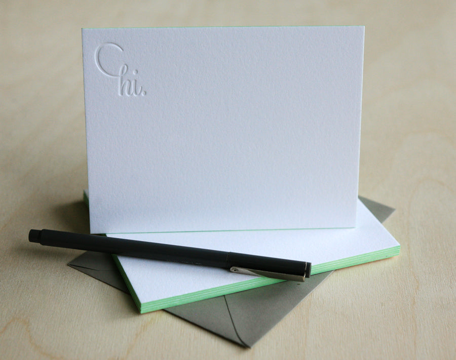 Hi Notes Letterpress Edge Painted Notes