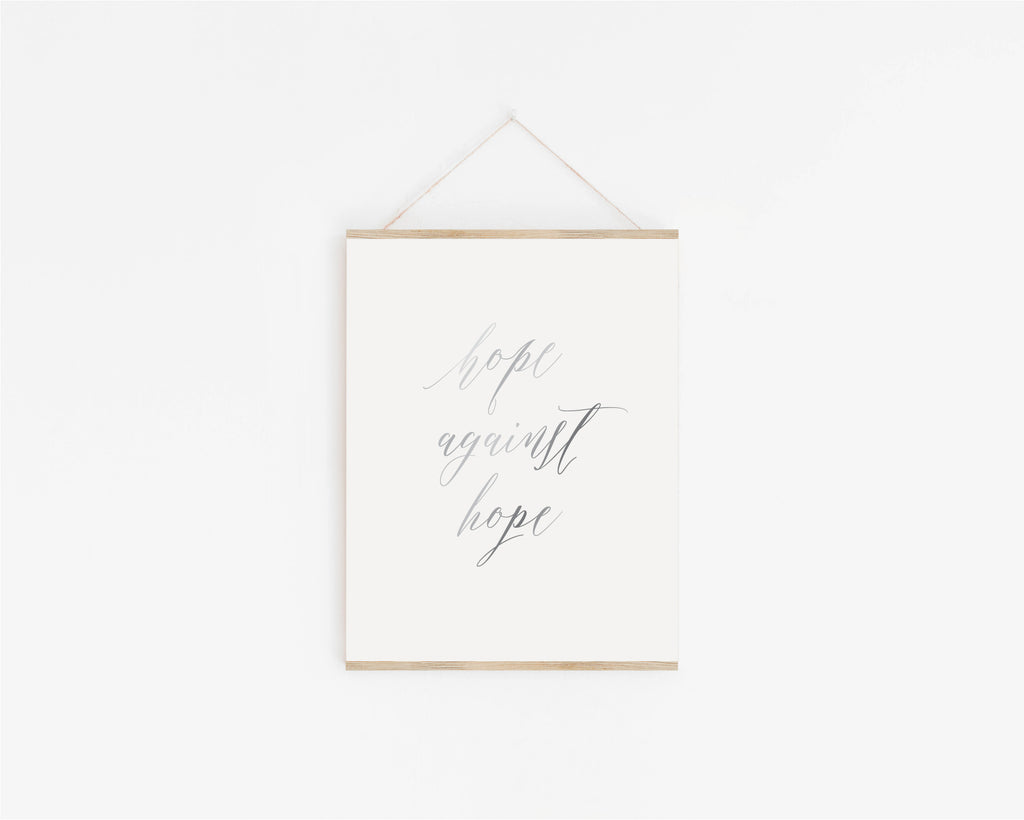 Hope Against Hope Foil Art Print
