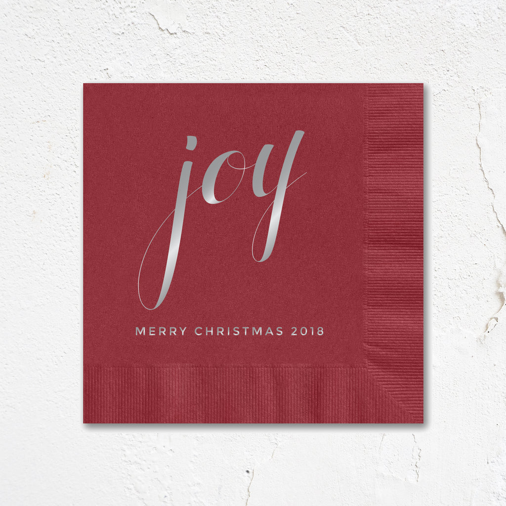 Joy Holiday Party Napkins