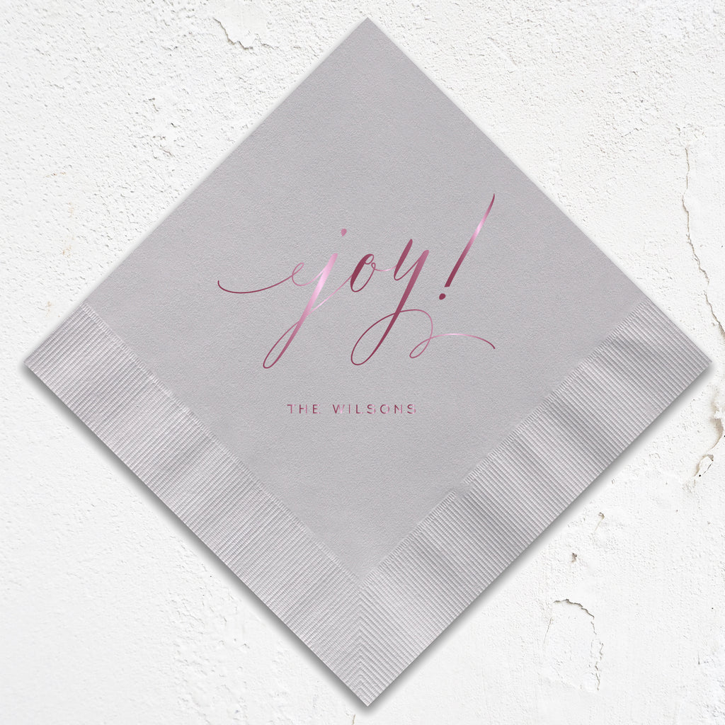 Joy! Modern Holiday Napkins