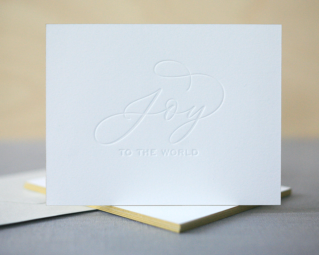 Joy to the World Letterpress Christmas Cards