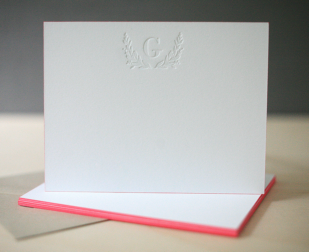 Laurel Monogram Notes