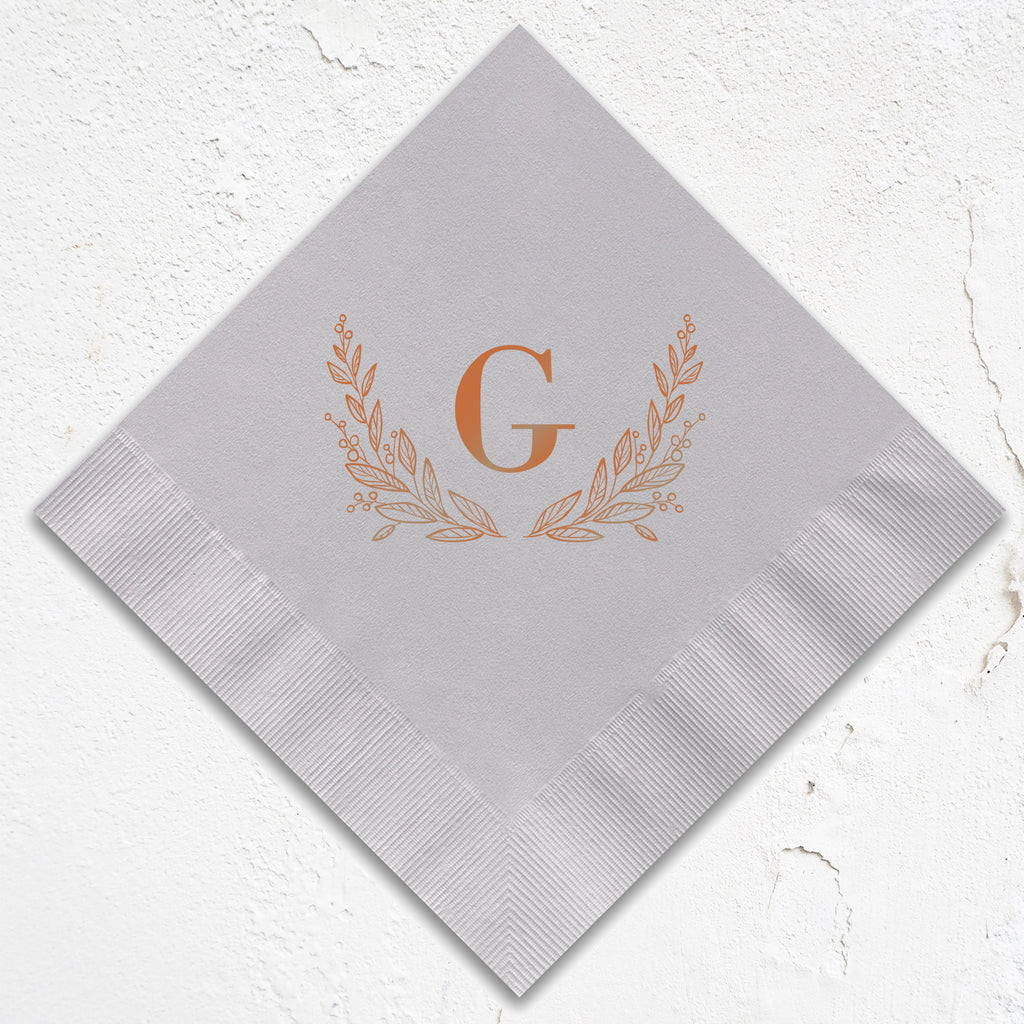 Laurel Monogram Napkins