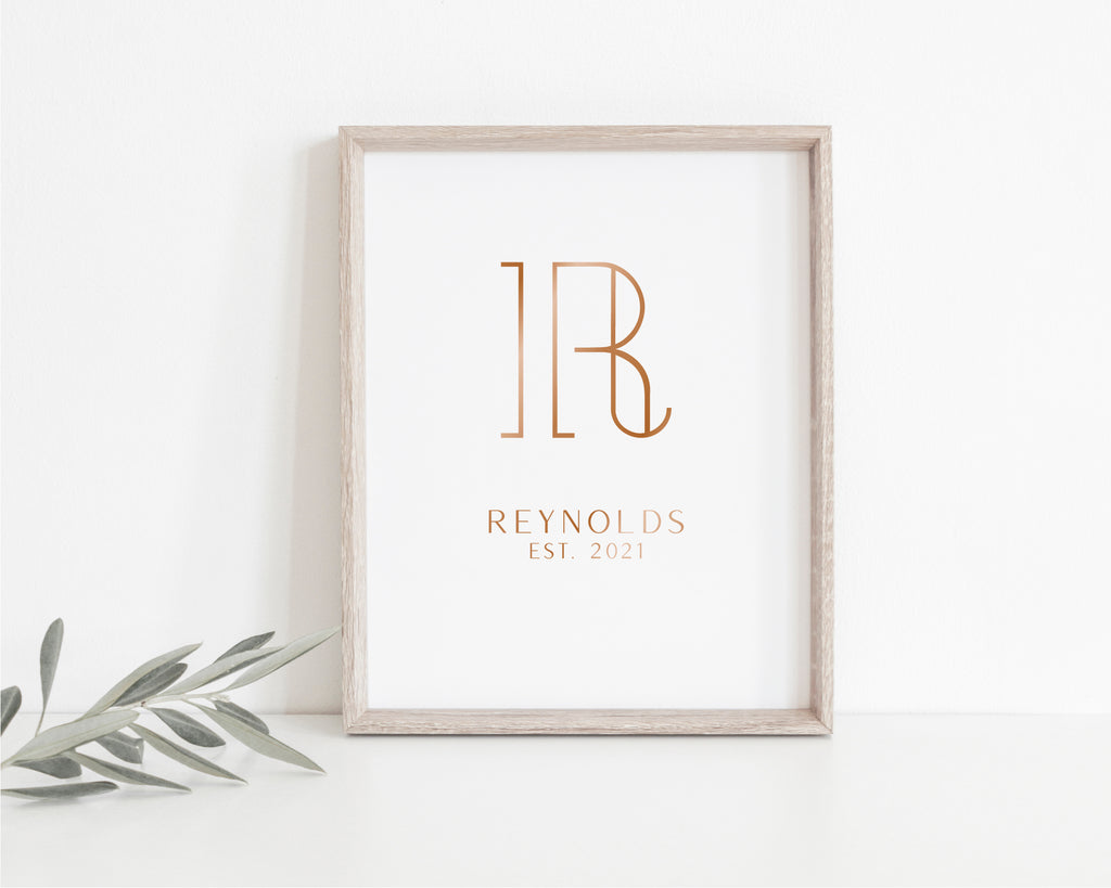 London Monogram Foil Art Print