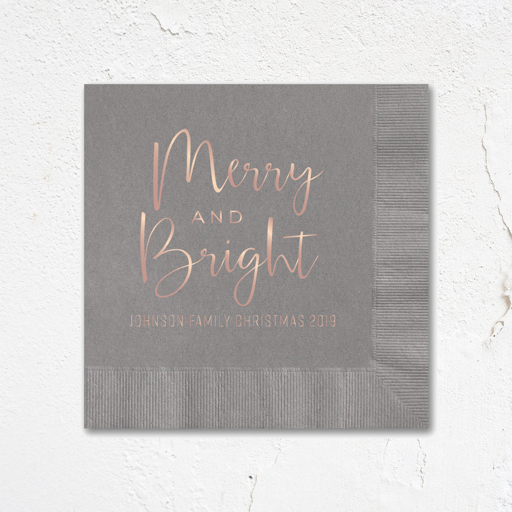 Merry & Bright Holiday Napkins