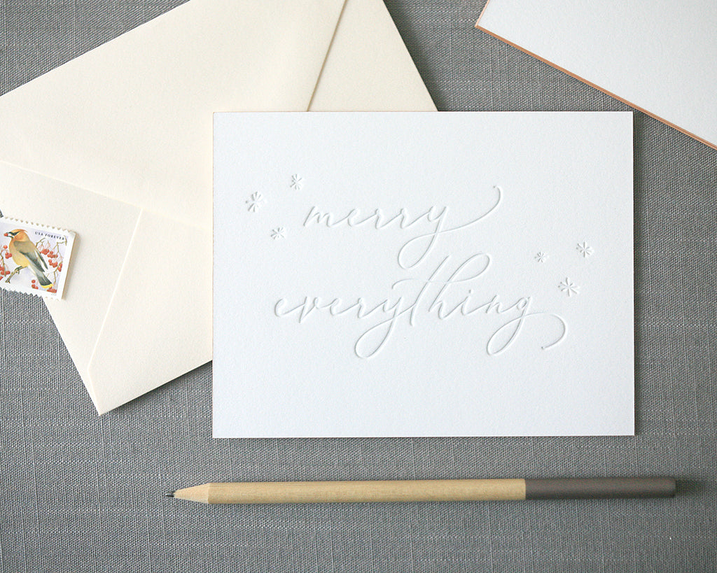 Merry Everything Letterpress Holiday Cards