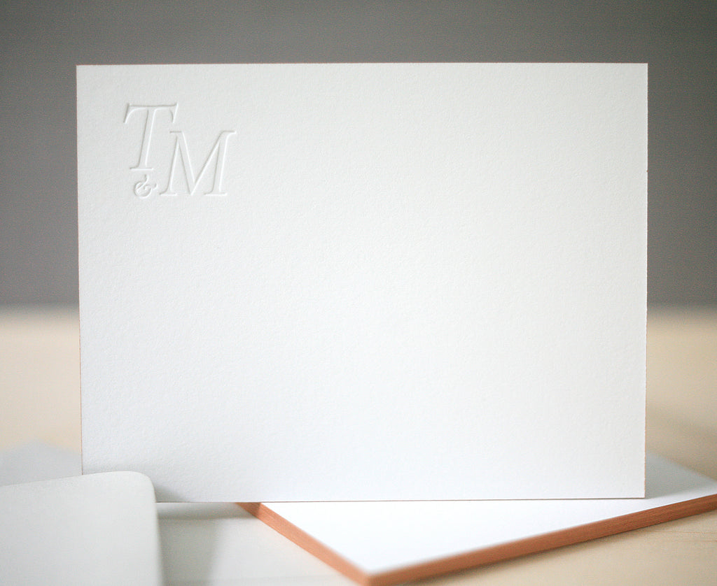 Modern Monogram Personalized Notes
