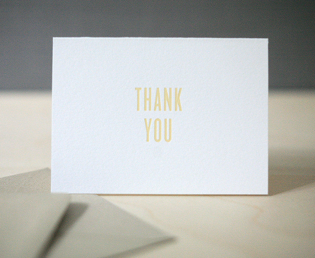 Butter Foil Thank You Notes