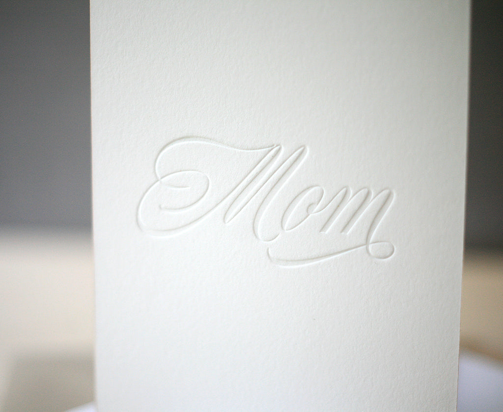 Mom Script Mother's Day Card