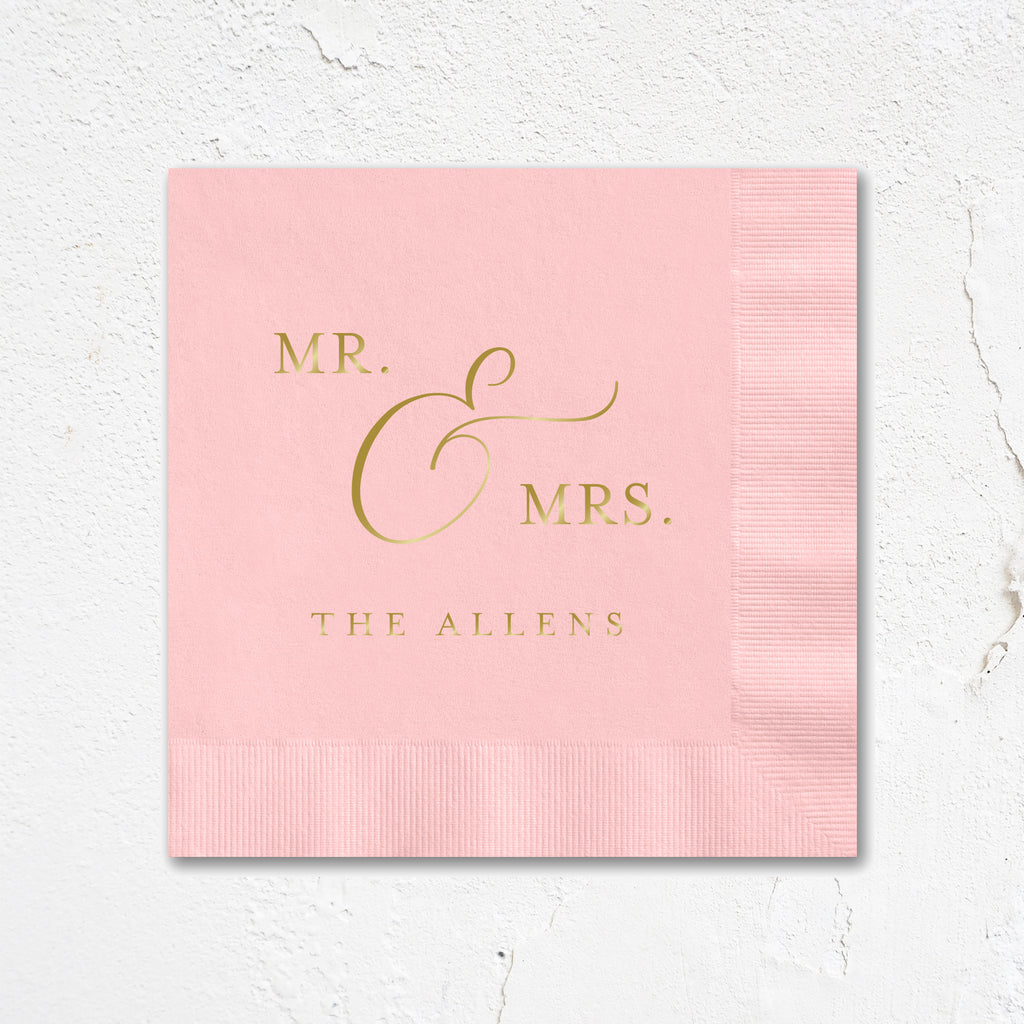 Mr. & Mrs. Wedding Napkins