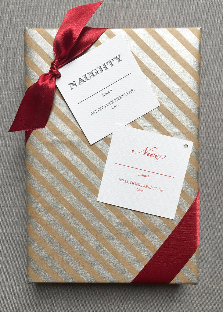 Naughty or Nice Gift Tags