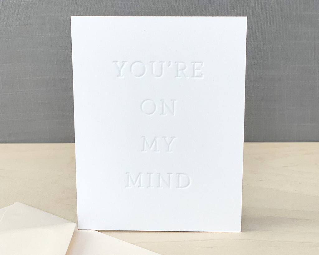 You're On My Mind Greeting Card