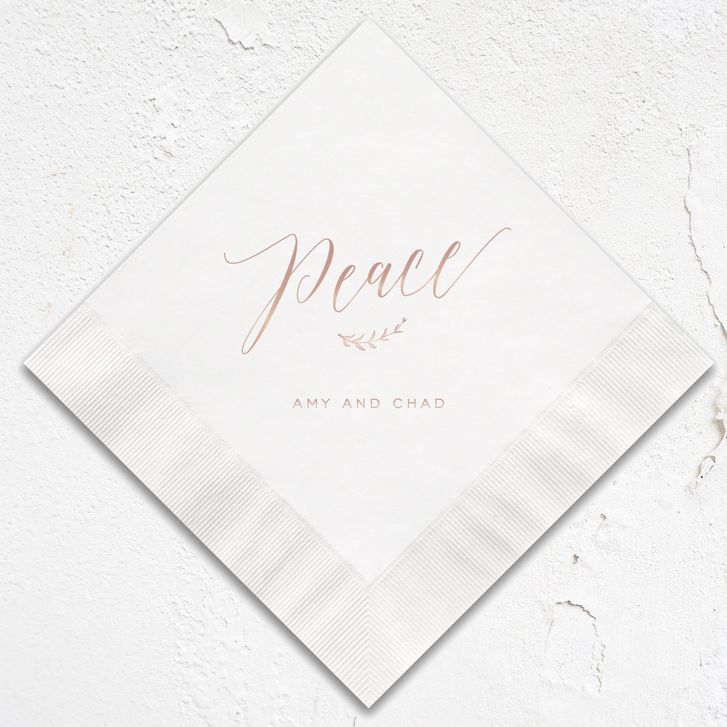 Peace Holiday Napkins