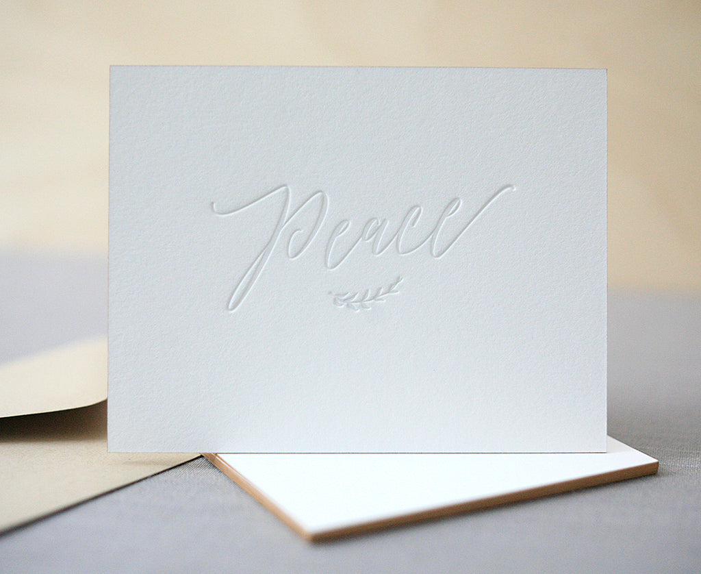 Peace Letterpress Holiday Cards
