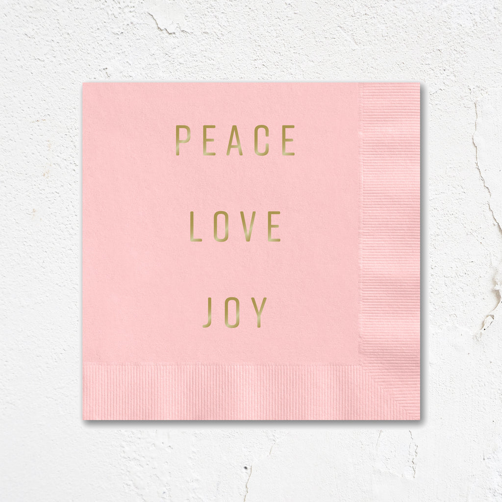 Peace Love Joy Holiday Napkins