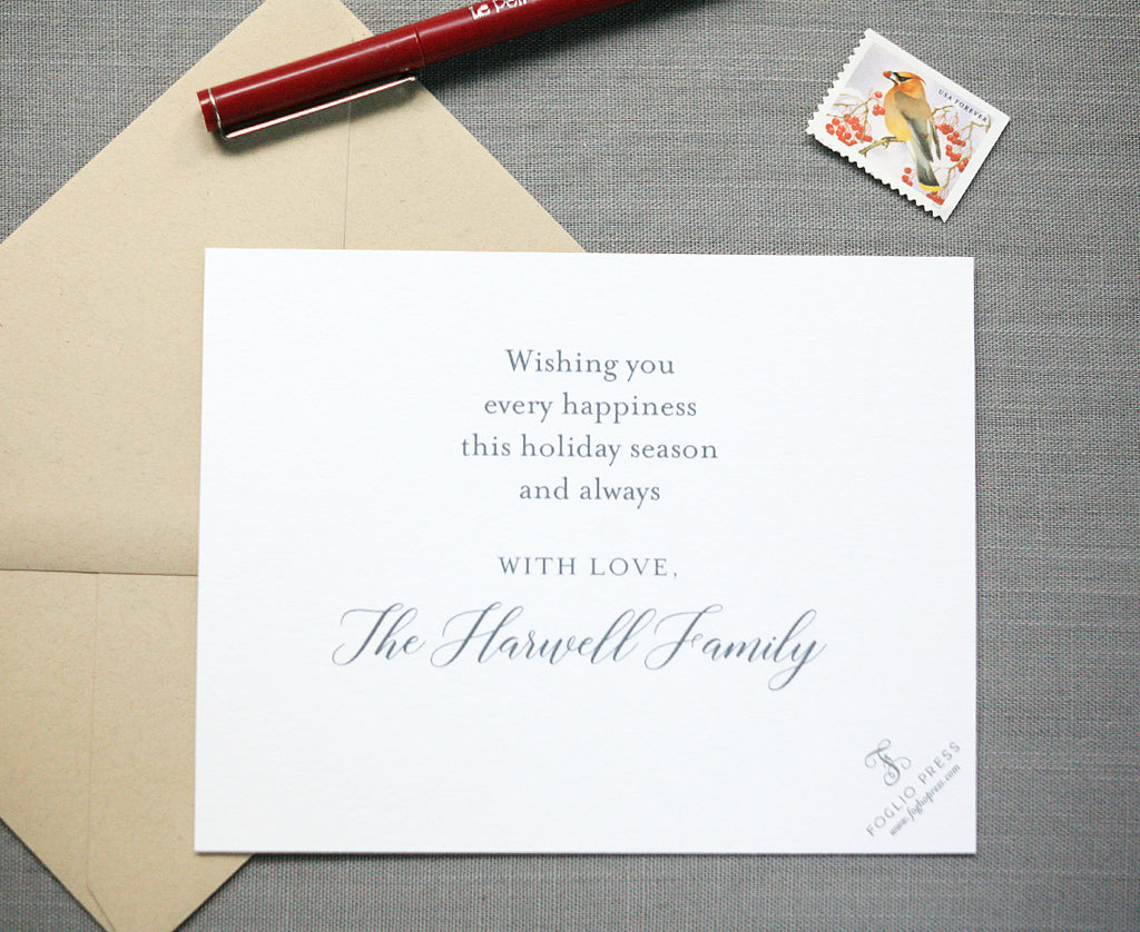 Peace Love Joy Letterpress Holiday Cards