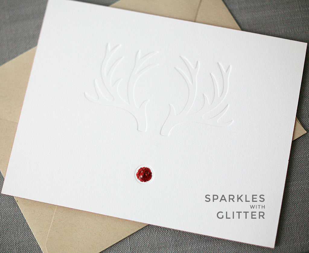 Red-Nose Letterpress Holiday Cards