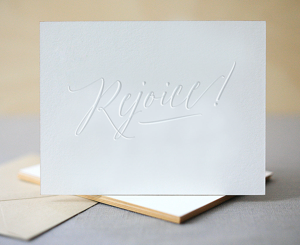 Rejoice! Letterpress Christmas Cards