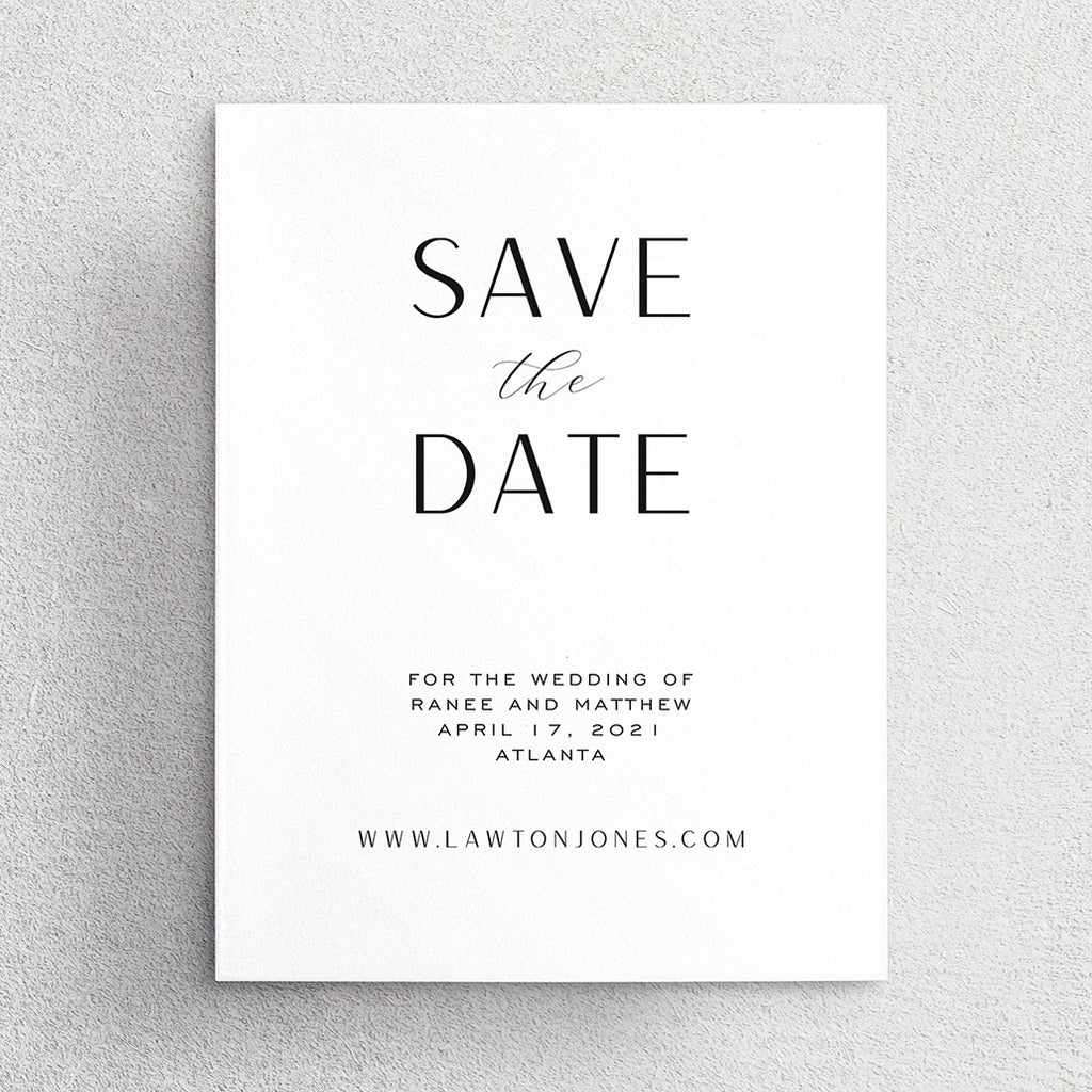 Save the Date No. 1