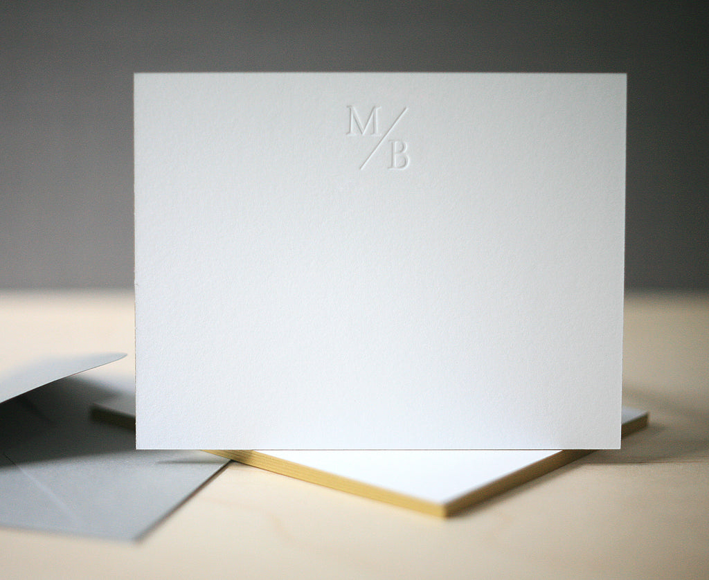 Simple Monogram Personalized Notes