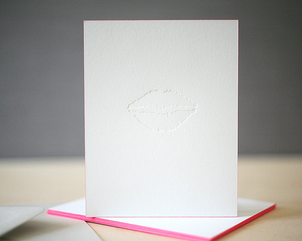 Smooch Letterpress Valentine's Cards