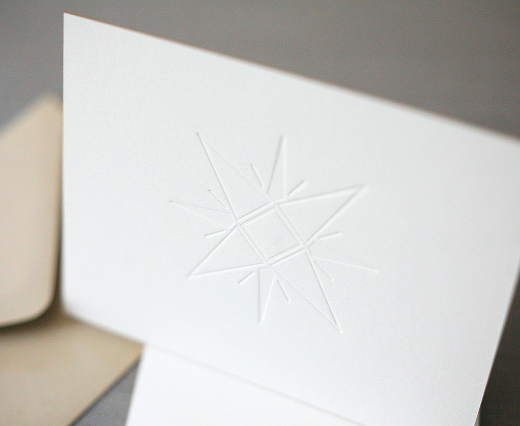 Christmas Star Letterpress Christmas Cards