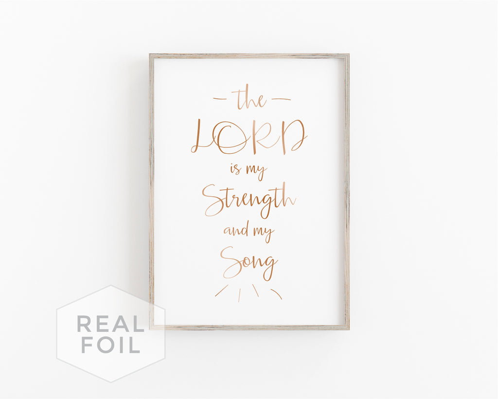 Strength and Song Foil Art Print