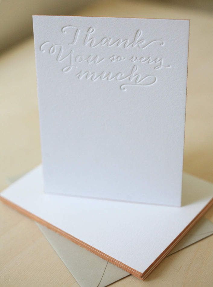 So Very Much Letterpress Edge Painted Notes