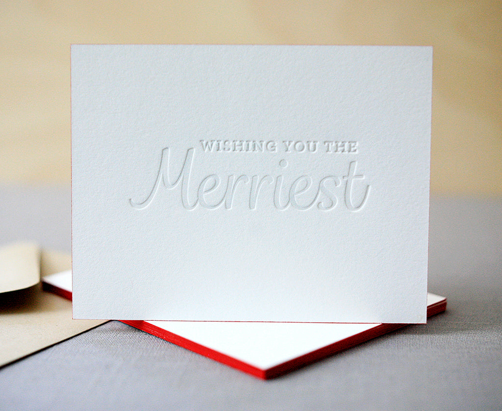 The Merriest Letterpress Holiday Cards
