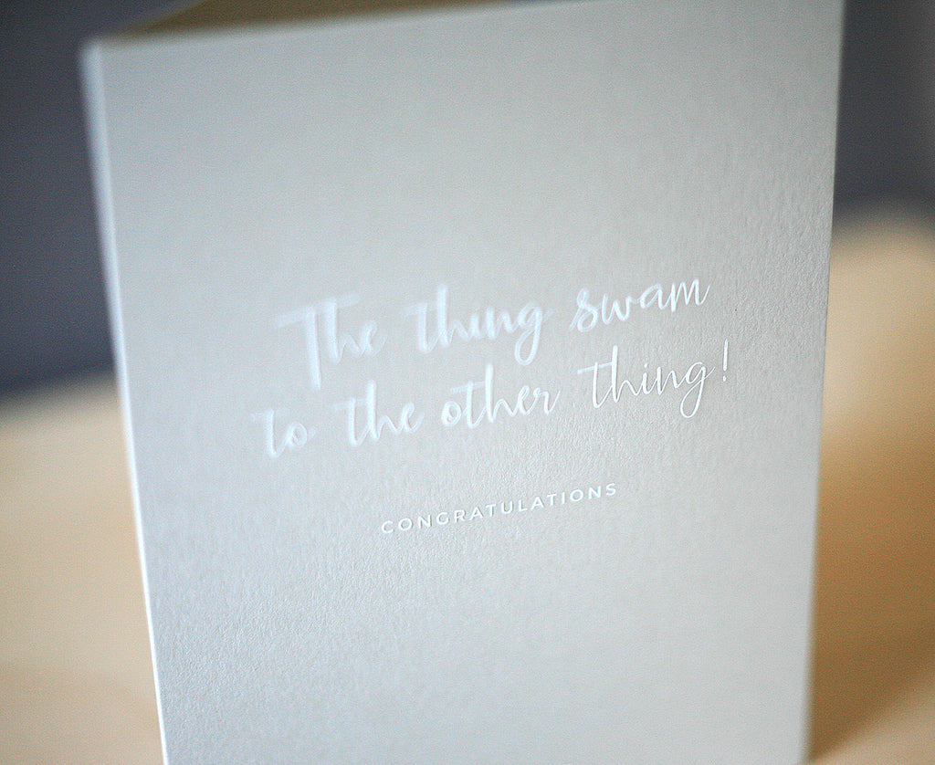Thing Swam to the Other Thing Greeting Card