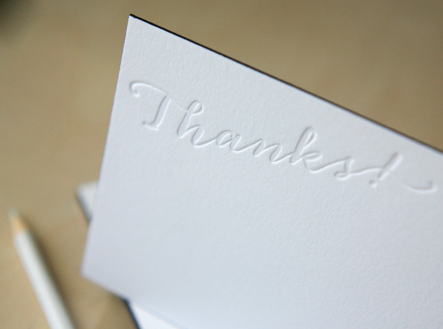 Thanks! Letterpress Edge Painted Notes