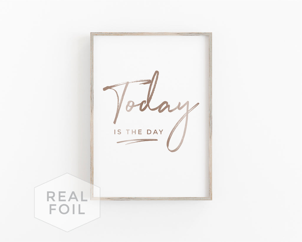 Today Foil Art Print