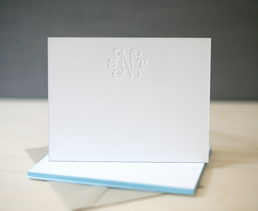 Vine Monogram Personalized Notes