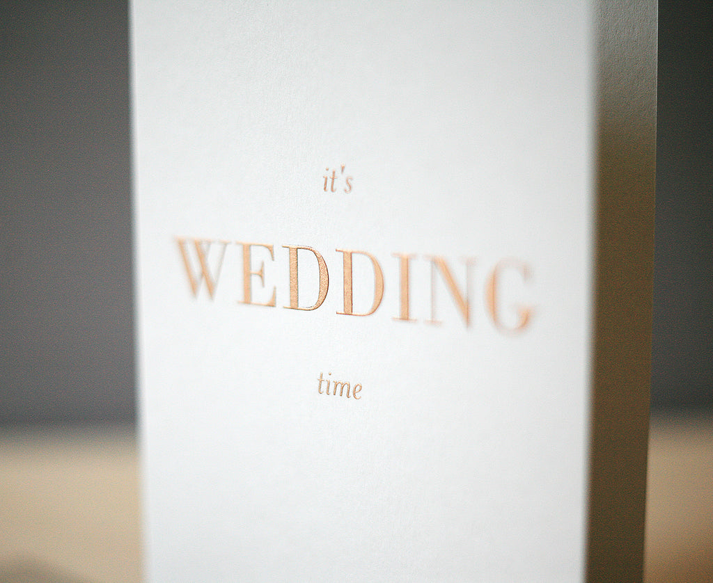 Wedding Time Greeting Card