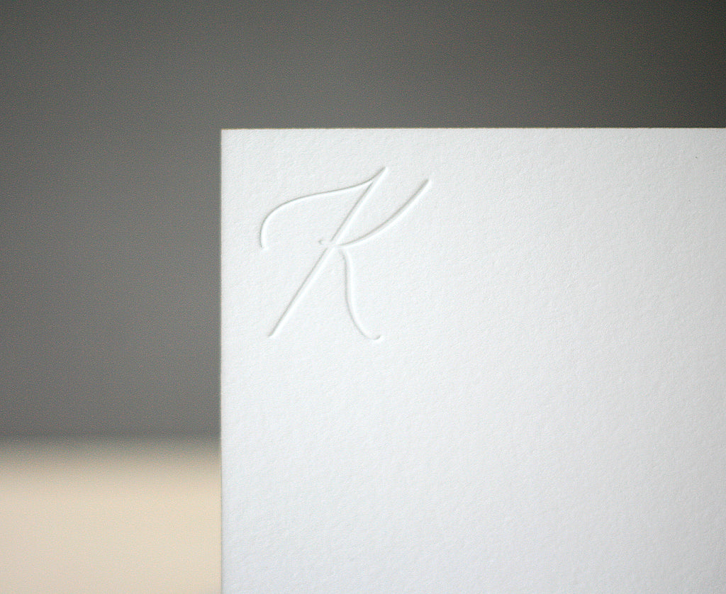 White Garden Initial Monogram Notes