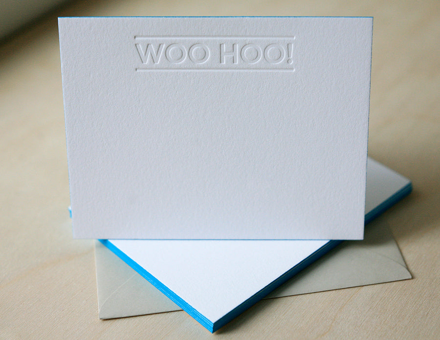 Woo Hoo Letterpress Edge Painted Notes