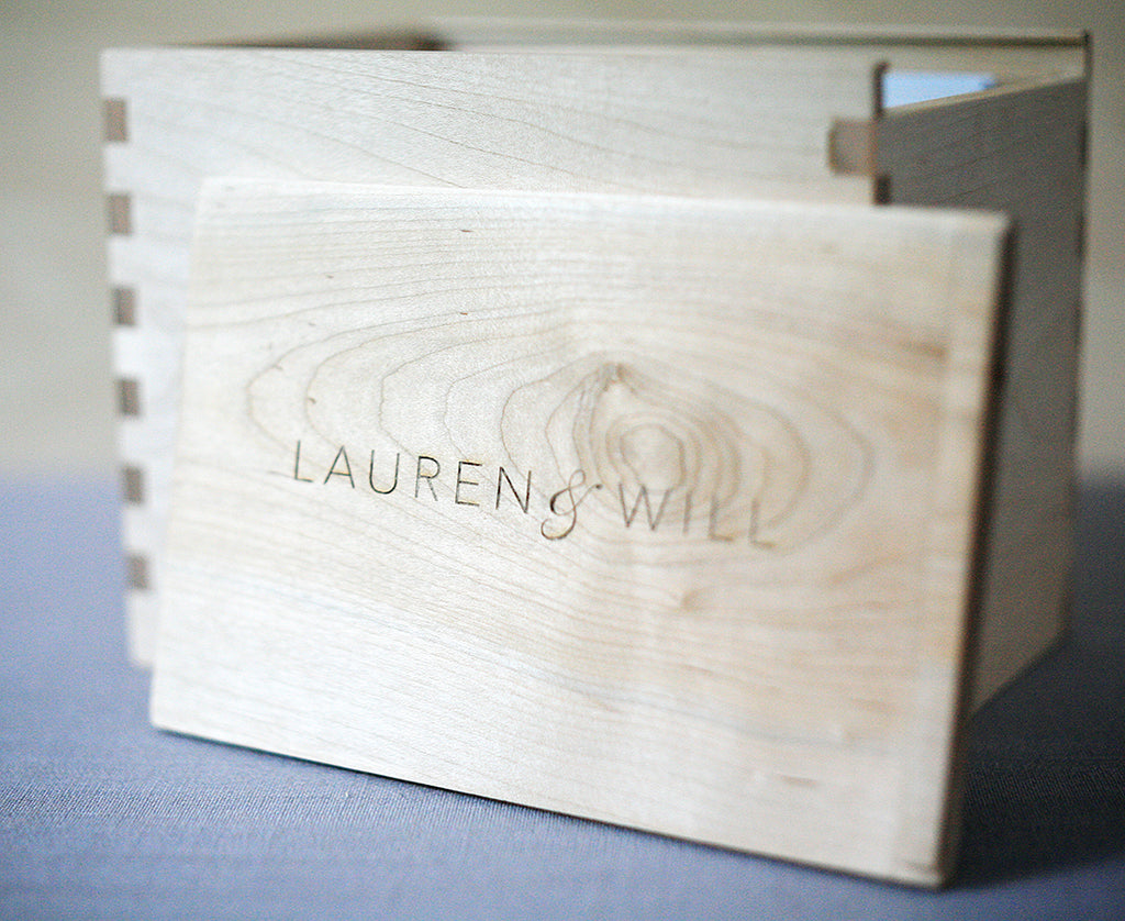 Wood Box Stationery Gift Set