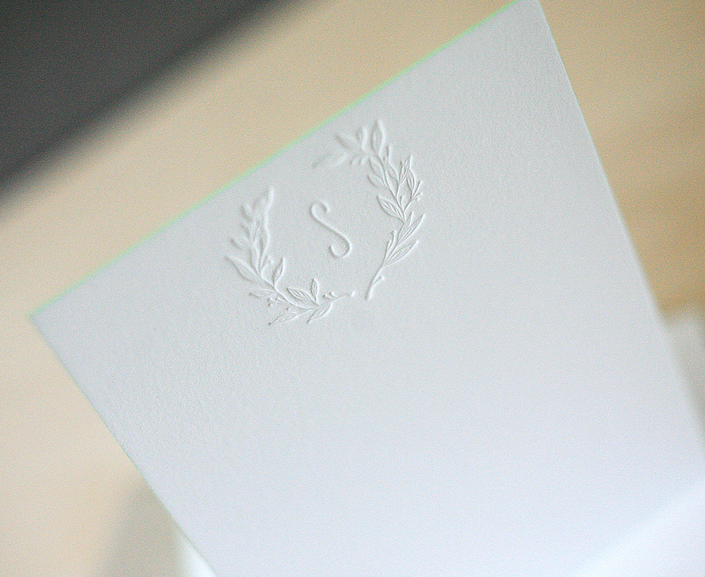 Wreath Monogram Notes