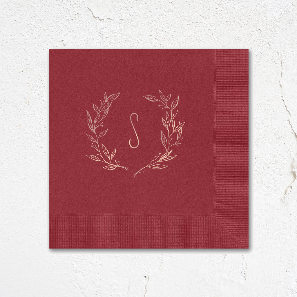 Wreath Monogram Napkins