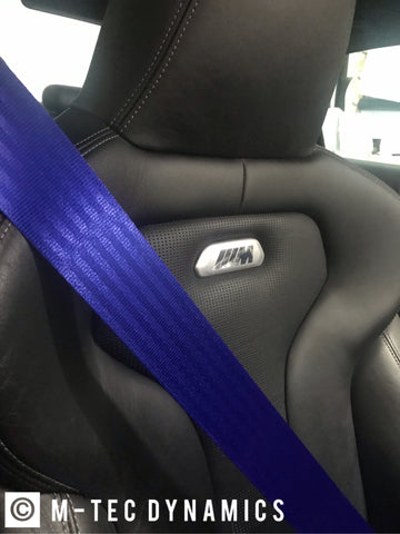 BMW CUSTOM ROYAL BLUE FRONT & / REAR SEAT BELT SET - CONTACT US FOR MORE DETAILS