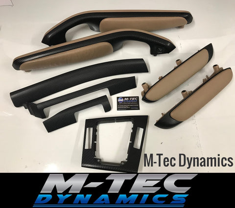 BMW E46 COUPE 4D BLACK BEIGE CARBON TRIM SET