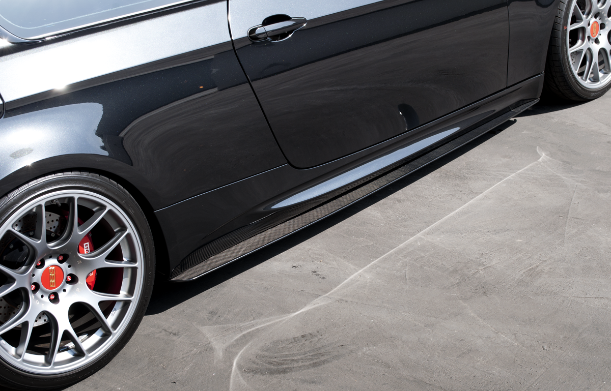 BMW E90 E92 M3 REAL CARBON FIBRE SIDE SKIRT EXTENSIONS