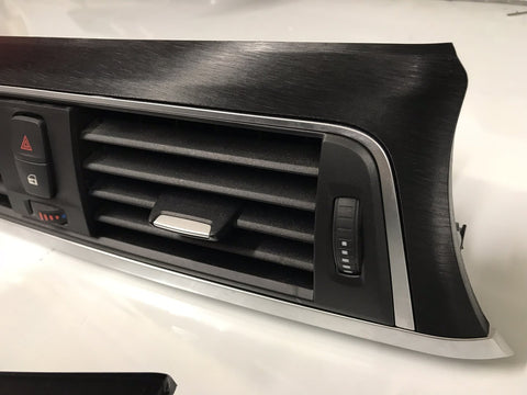 BMW F30 F80 Black Brushed Steel Trim Set